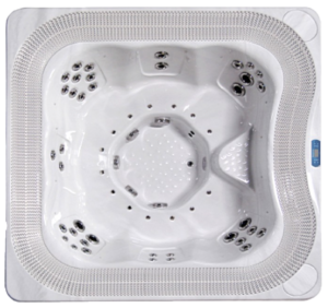 riverflow commercial hot tub from above