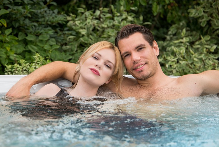 couple in the spa