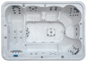 acclaim hot tub from above