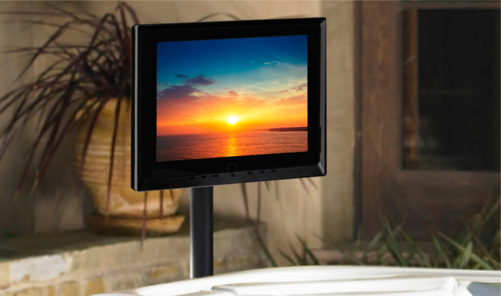 tv monitor hot tub accessory